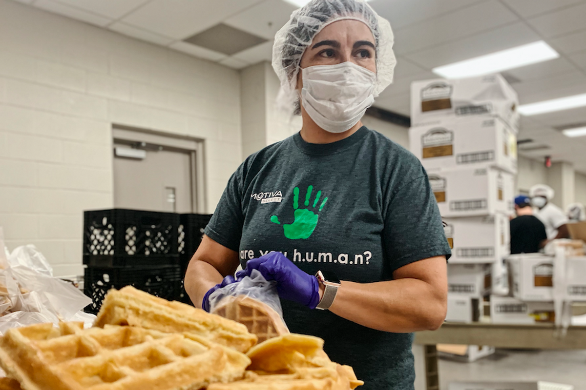 The food industry has been hit hard by the pandemic. This initiative is helping workers get back on their feet.