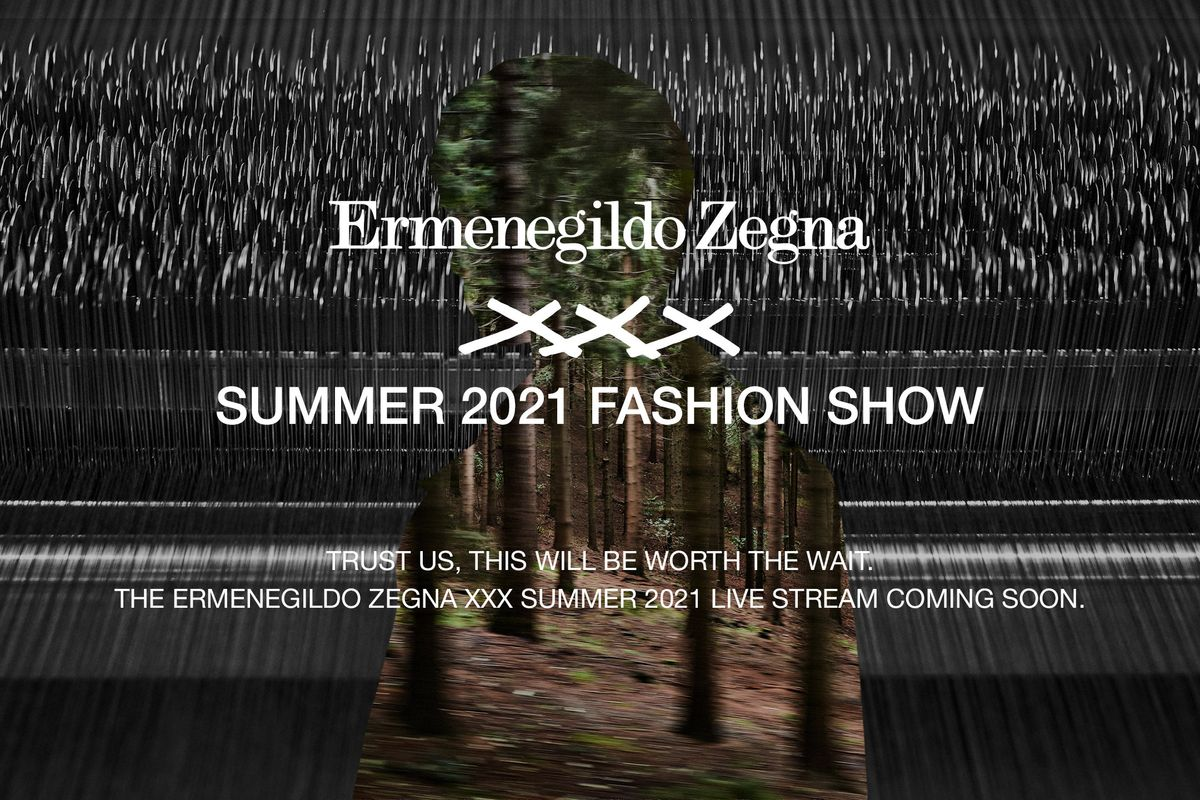 Watch Ermenegildo Zegna's First 'Phygital' Fashion Show Live
