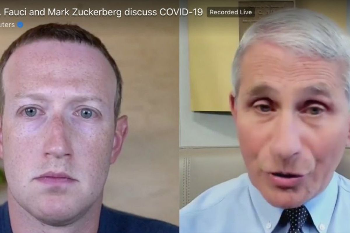 Blocked from TV appearances, Dr. Fauci answers questions live on Facebook