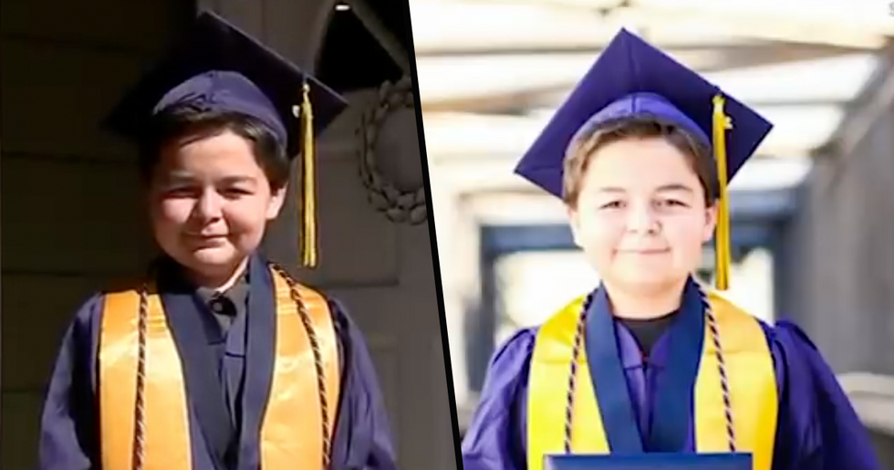 13-Year-Old Boy Earns Fourth Associate's Degree as He Becomes California's Youngest College Graduate Ever