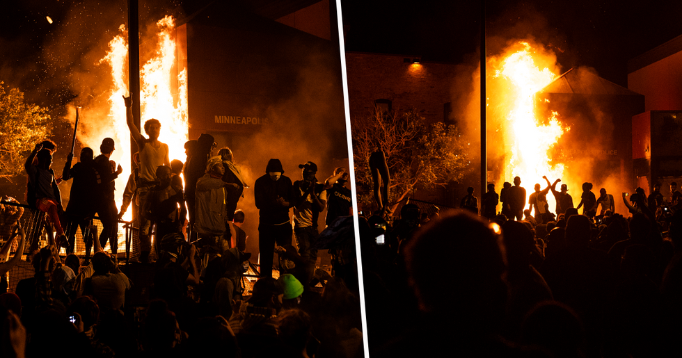 Protesters Set Minneapolis Police Station on Fire During Third Night of Rioting Over George Floyd's Death