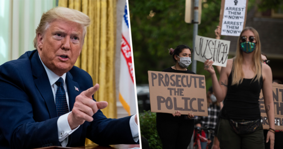 Donald Trump Threatens to Shoot Rioters who are Protesting George Floyd's Death