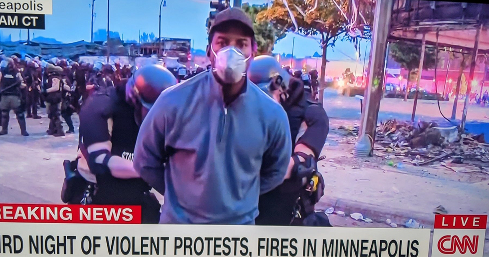 Black CNN Reporter Arrested Live on Air While Reporting on Protests