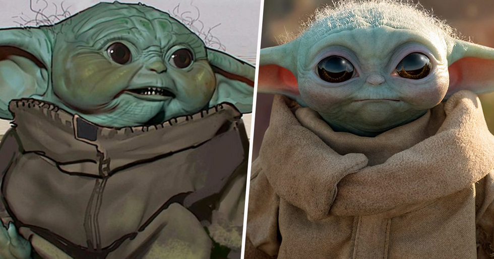 The Mandalorian's Early Baby Yoda Design Is Absolutely Terrifying