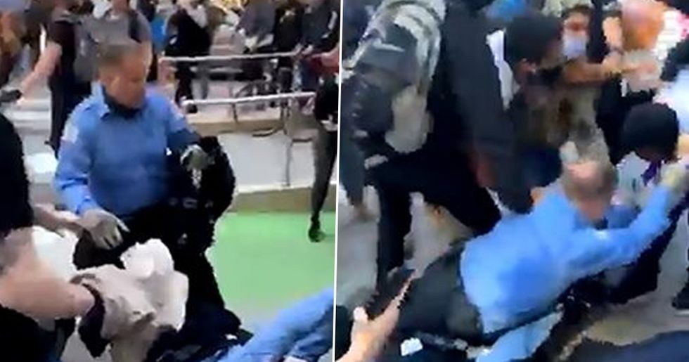 Chicago Cops Get Dragged and Thrown by George Floyd Protesters