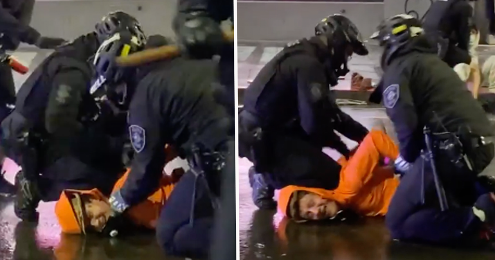 Cop Removes Colleague's Knee From Man's Neck at Protest Over George Floyd's Death