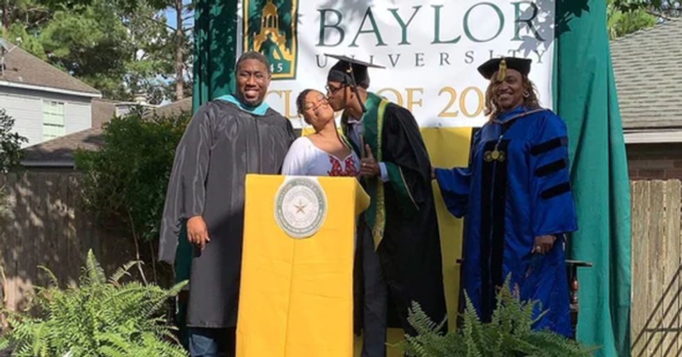 Single Mom Surprises Her Son With Backyard Graduation Ceremony After His Was Canceled