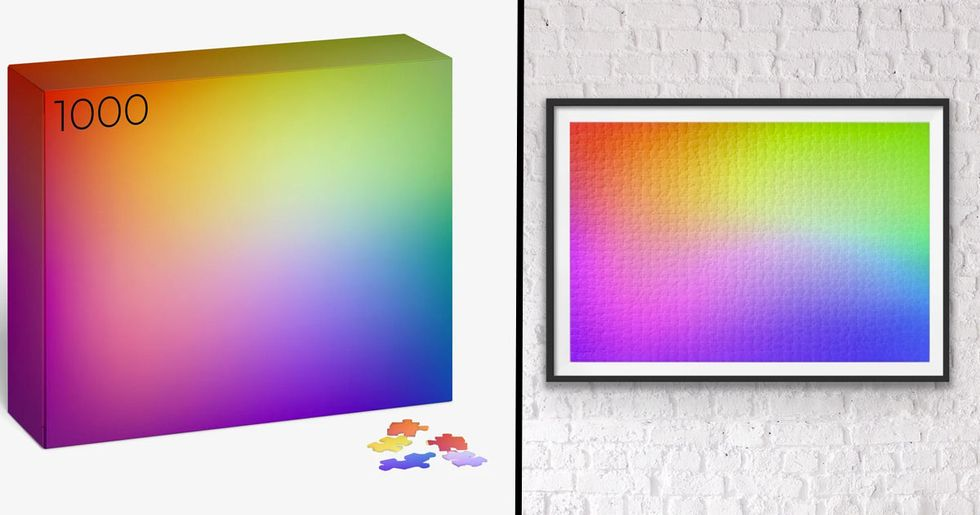 The Rainbow Gradient Puzzle Looks So Good You Can Hang it on Your Wall