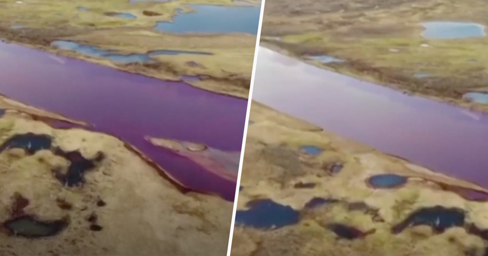Russia Declares State of Emergency After Rivers Turn Blood Red Color