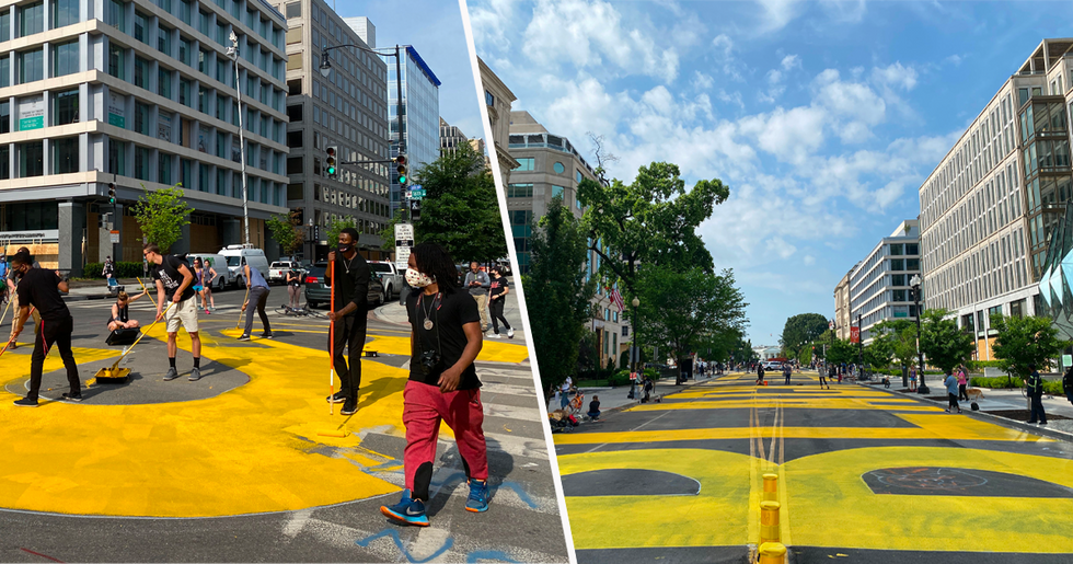 Mayor of D.C. Has City Workers Painting 'Black Lives Matter' on Street Near White House