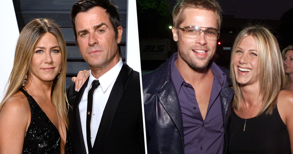 Justin Theroux Found Secret Love Notes to Jennifer Aniston From Brad Pitt While They Were Married