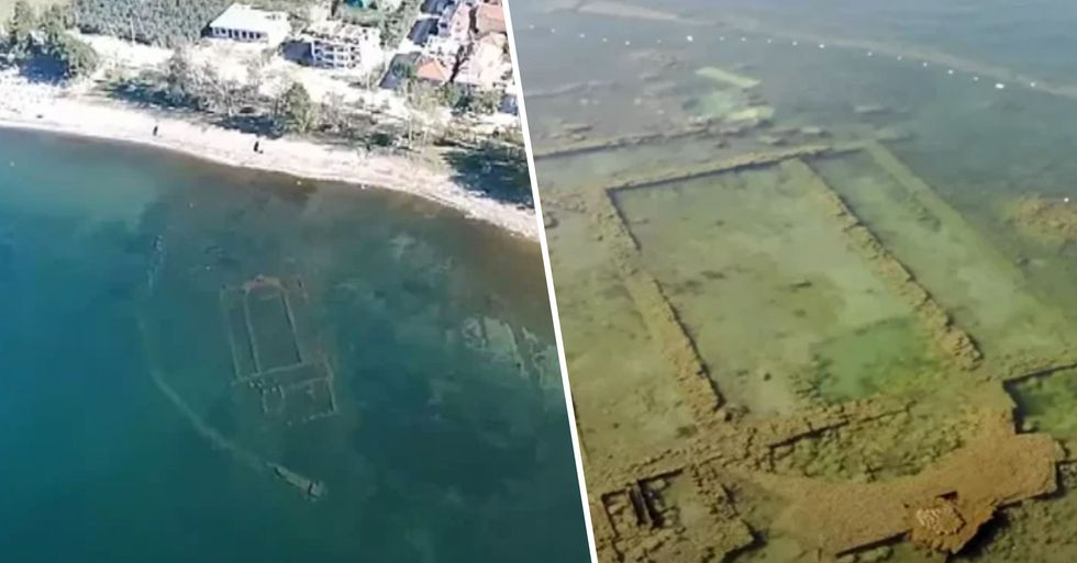 Church Reappears After 1,600 Years Under a Lake as Lockdown Clears Pollution