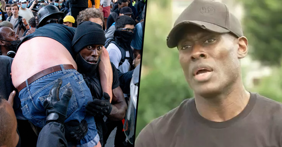 Man Who Carried Injured Counter-Protester to Safety Speaks Out for the First Time