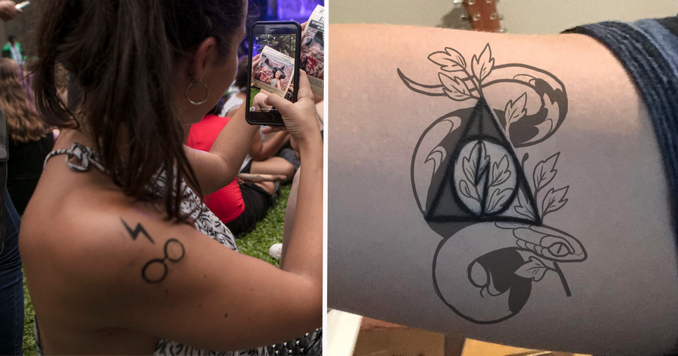 'Harry Potter' Fans Are Getting Their Themed Tattoos Covered up After J.K Rowling's Comments About Trans People