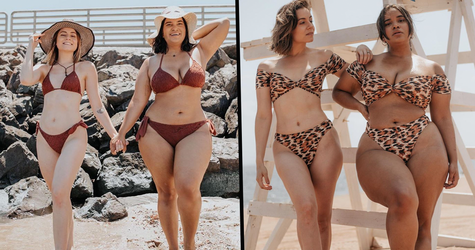 Friends With Different Body Types Are Posing in the Same Swimsuits to Prove That Anyone Can Wear a Bikini