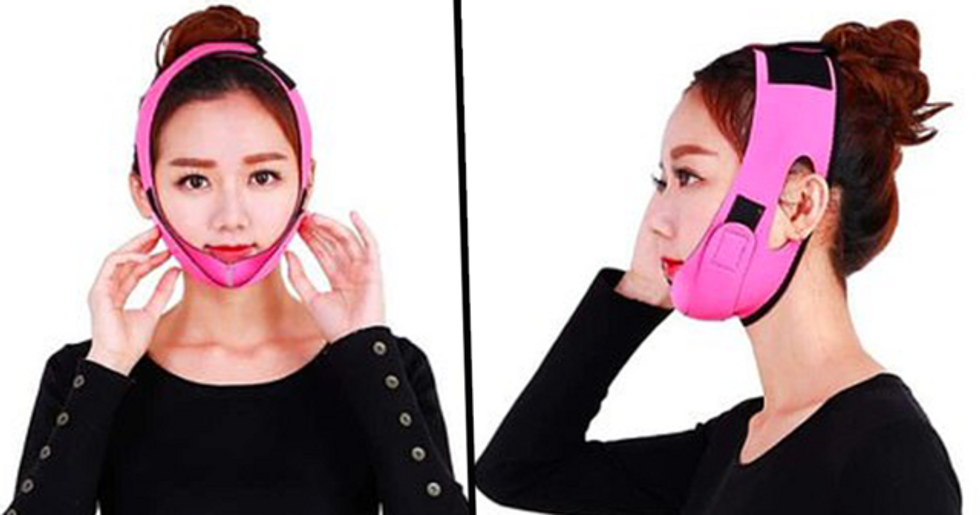 People Are Going Crazy for 'Face Bras' Claiming to 'Get Rid of Double Chin'