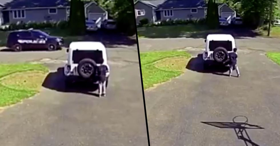 Black 10-Year-Old Boy Hides From Passing Police Car in Heartbreaking Footage