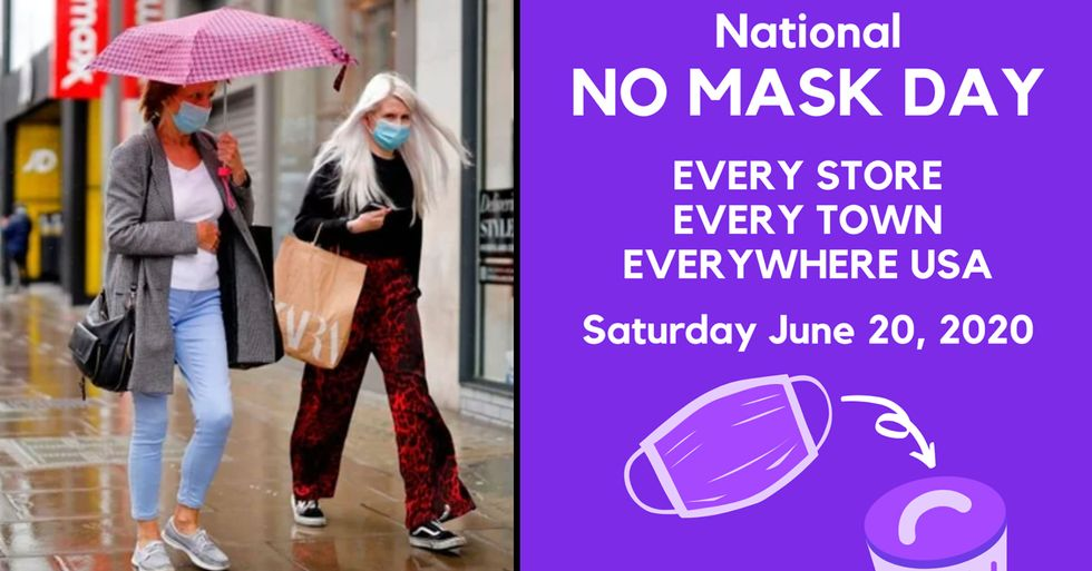 National 'No Mask Day' Is a Thing Because of Course It Is