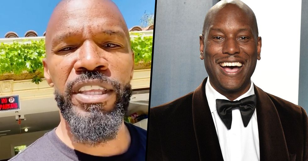 Jamie Foxx Blasts Tyrese Gibson for His Bizarre Post About 'White Slaves'