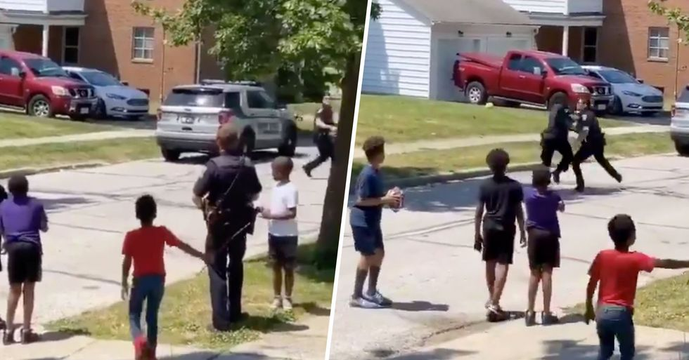 Ohio Cops Called on Black Kids Playing Football so They Join the Game
