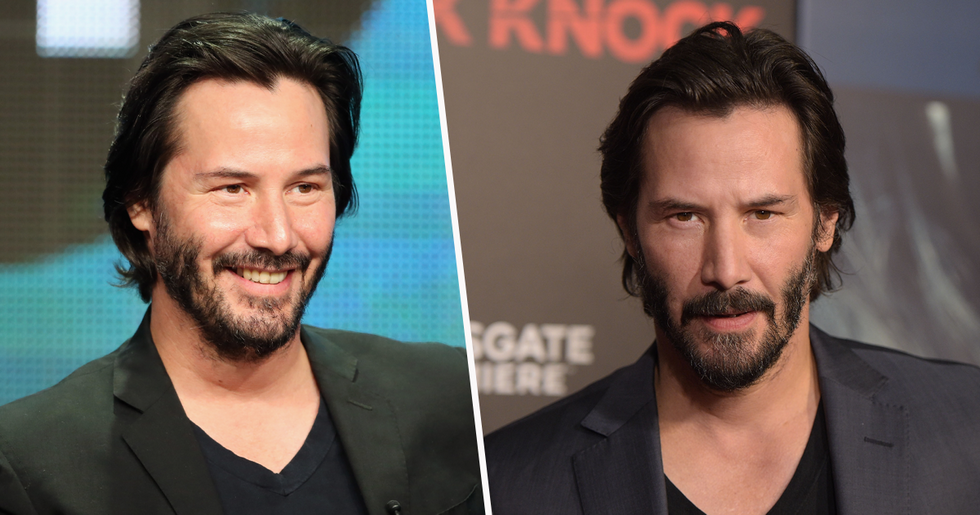 Keanu Reeves Makes Rare Appearance With Girlfriend on Set of 'Matrix 4'