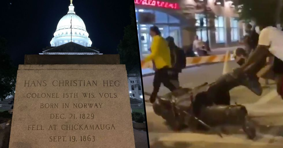 Anti-Racism Protesters Mistakenly Topple Statue of US Anti-Slavery Leader