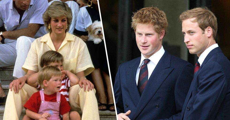 An Unseen Letter That Princess Diana Wrote About Harry and William Has Been Released