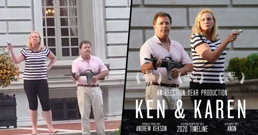Couple Who Pulled Guns on Protesters Have Become Known as 'Ken and Karen'