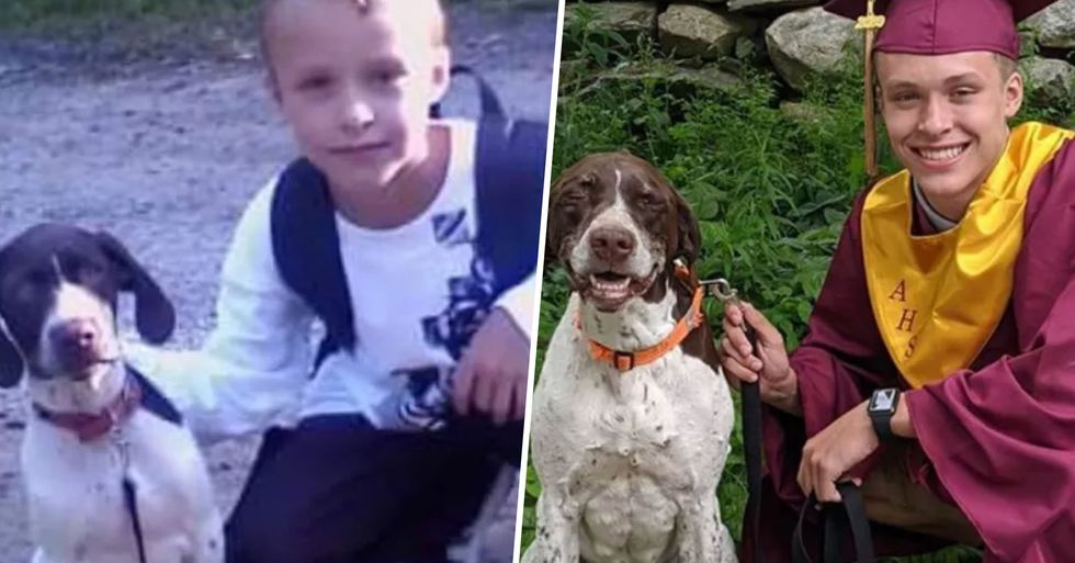 High School Grad Recreates 'First Day of School' Photo With Beloved Family Dog