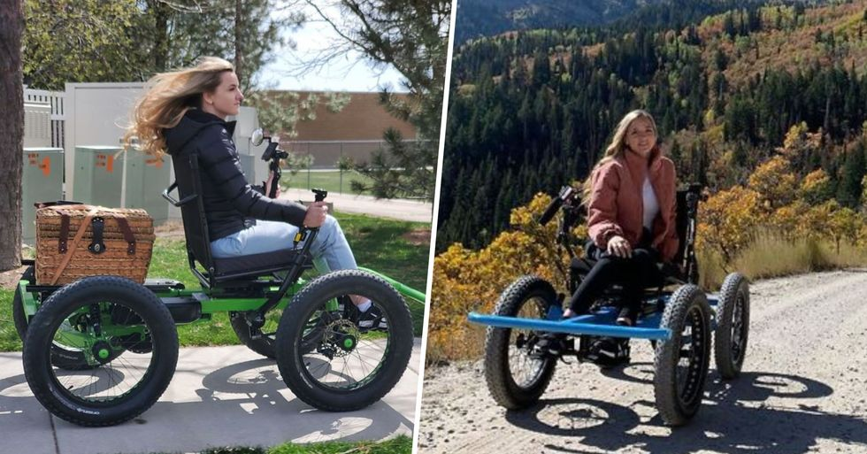 Man Designs Off-Road Wheelchair So His Wife Can Go Places She Never Imagined