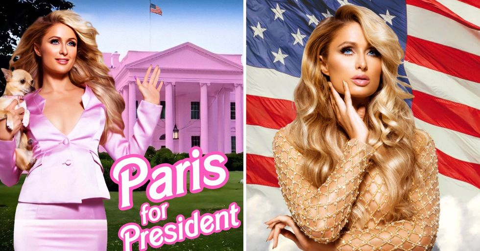 Paris Hilton Says She's Running for President After Kanye West Announcement