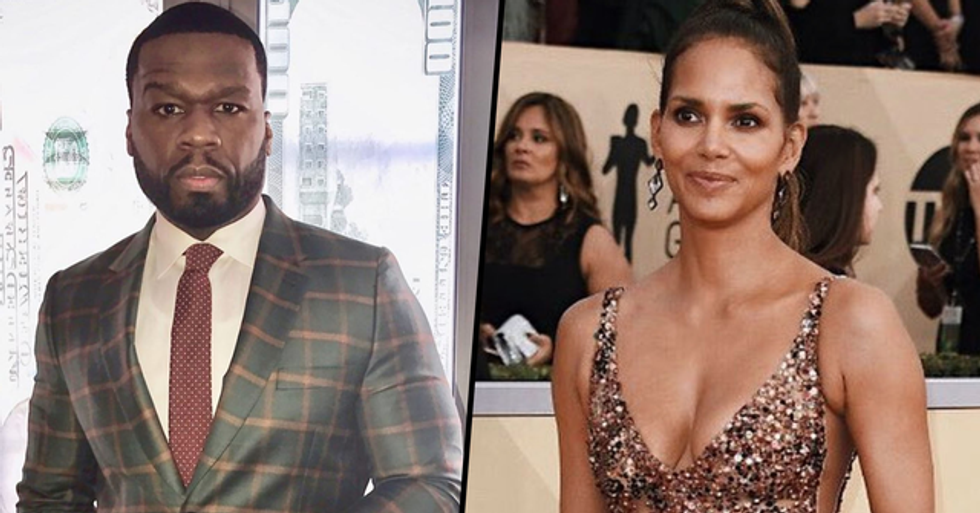 50 Cent Asks If He's Gay Because He Finds Halle Berry Attractive
