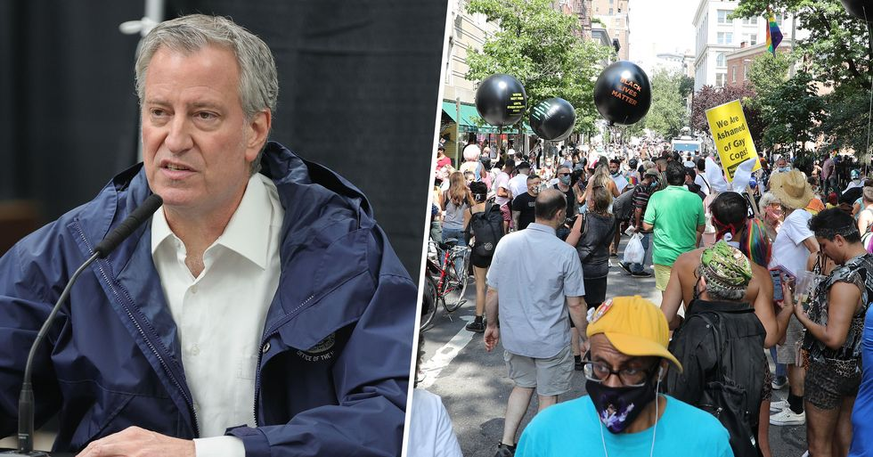 New York City Mayor Bans All Large Gatherings Expect for BLM Protests