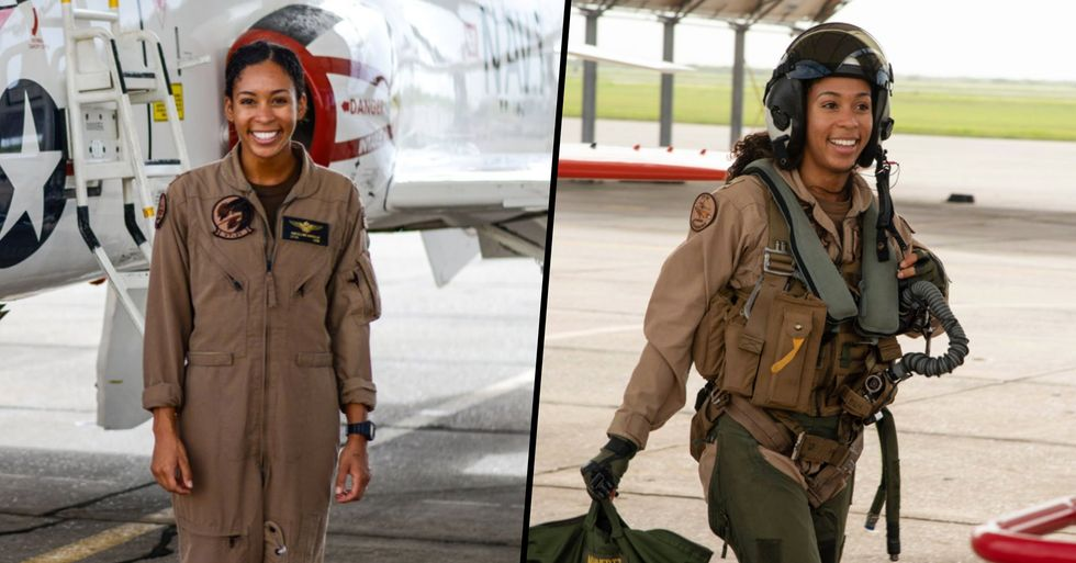 Aviator Becomes U.S. Navy's First Ever Black Female Fighter Pilot