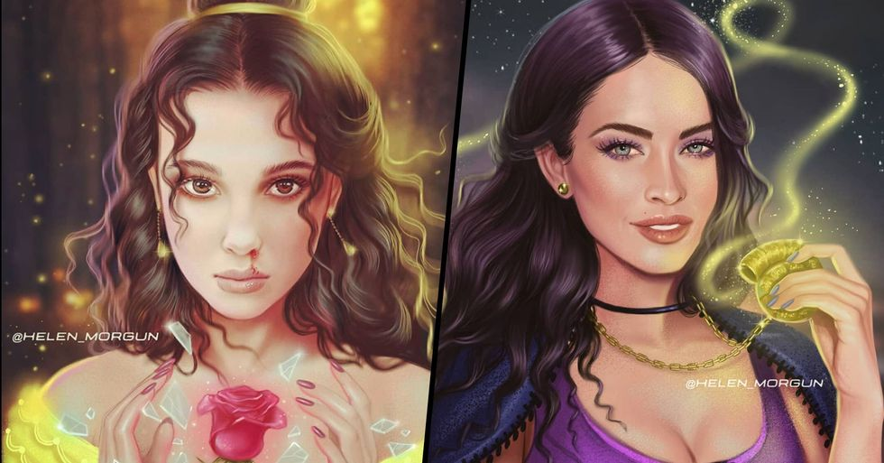 Our Favourite Celebrities Are Reimagined as Disney Characters in Beautiful Artwork