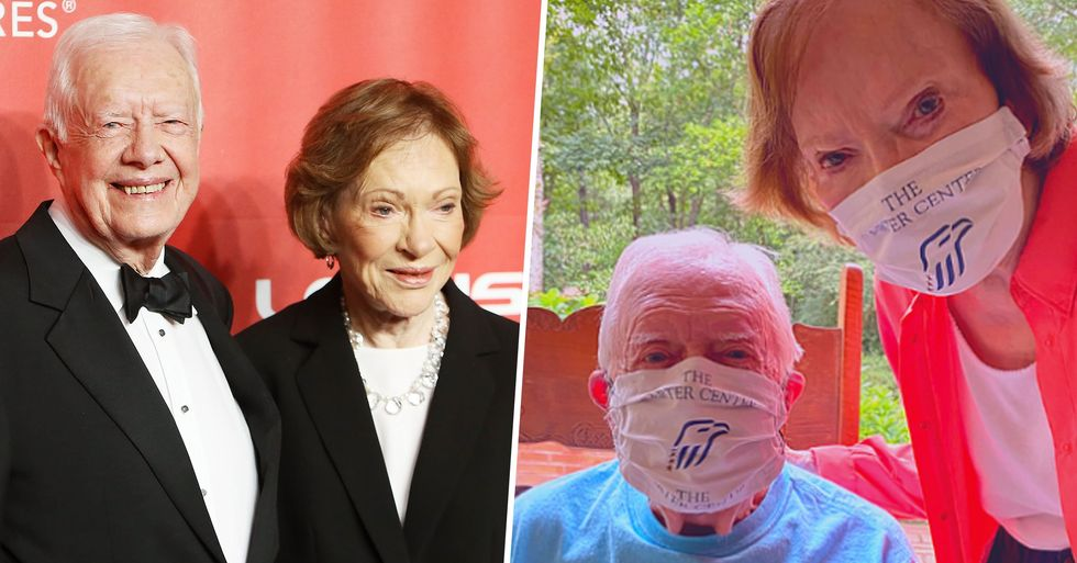 Jimmy and Rosalynn Carter Urge Americans to 'Wear a Mask to Save Lives'