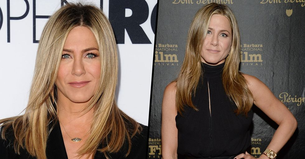 People Are Thirsty Over Jennifer Aniston's Sweaty 'Post-Workout Self Portrait'