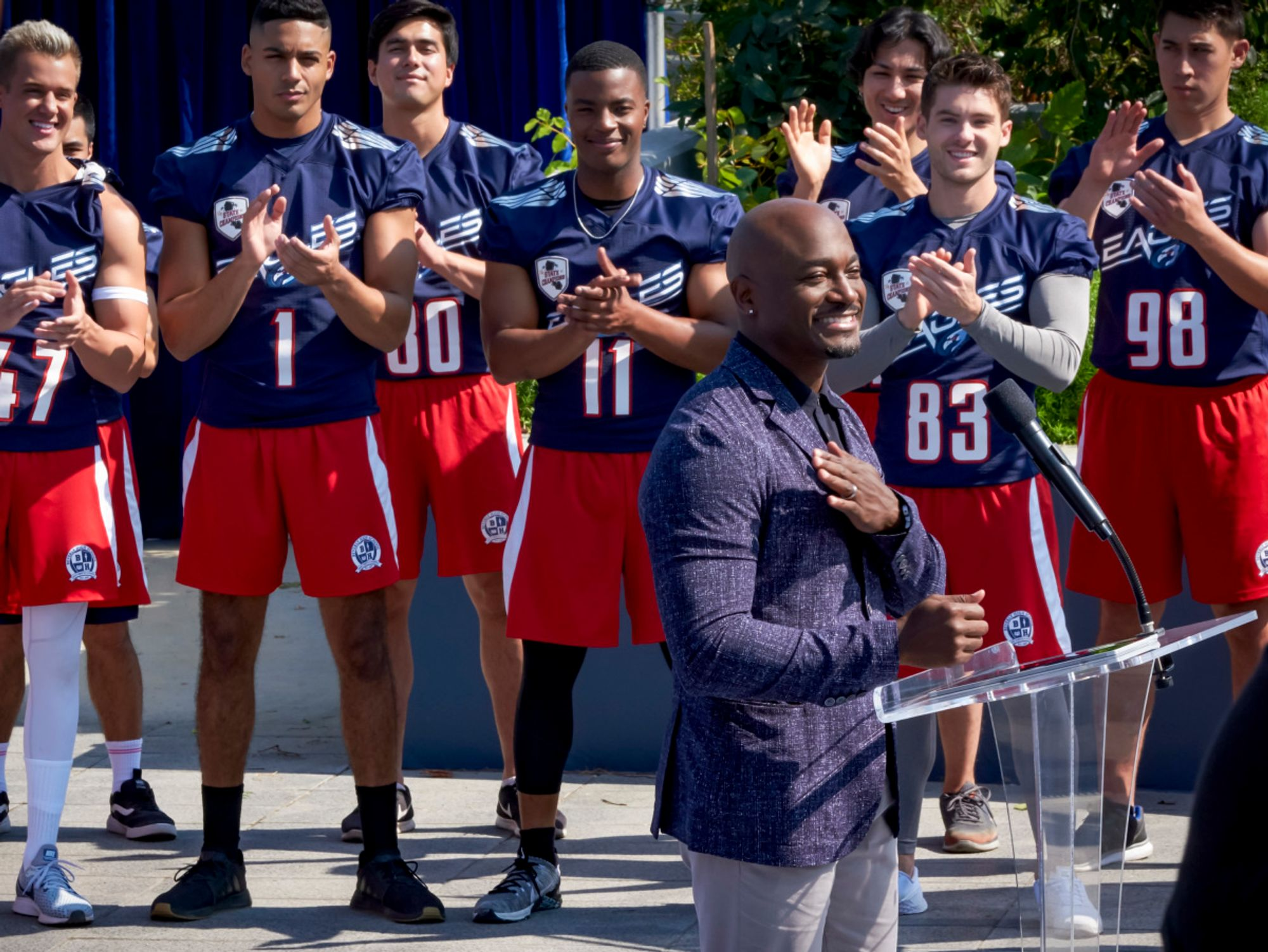 High school football players on TV show from The CW All American
