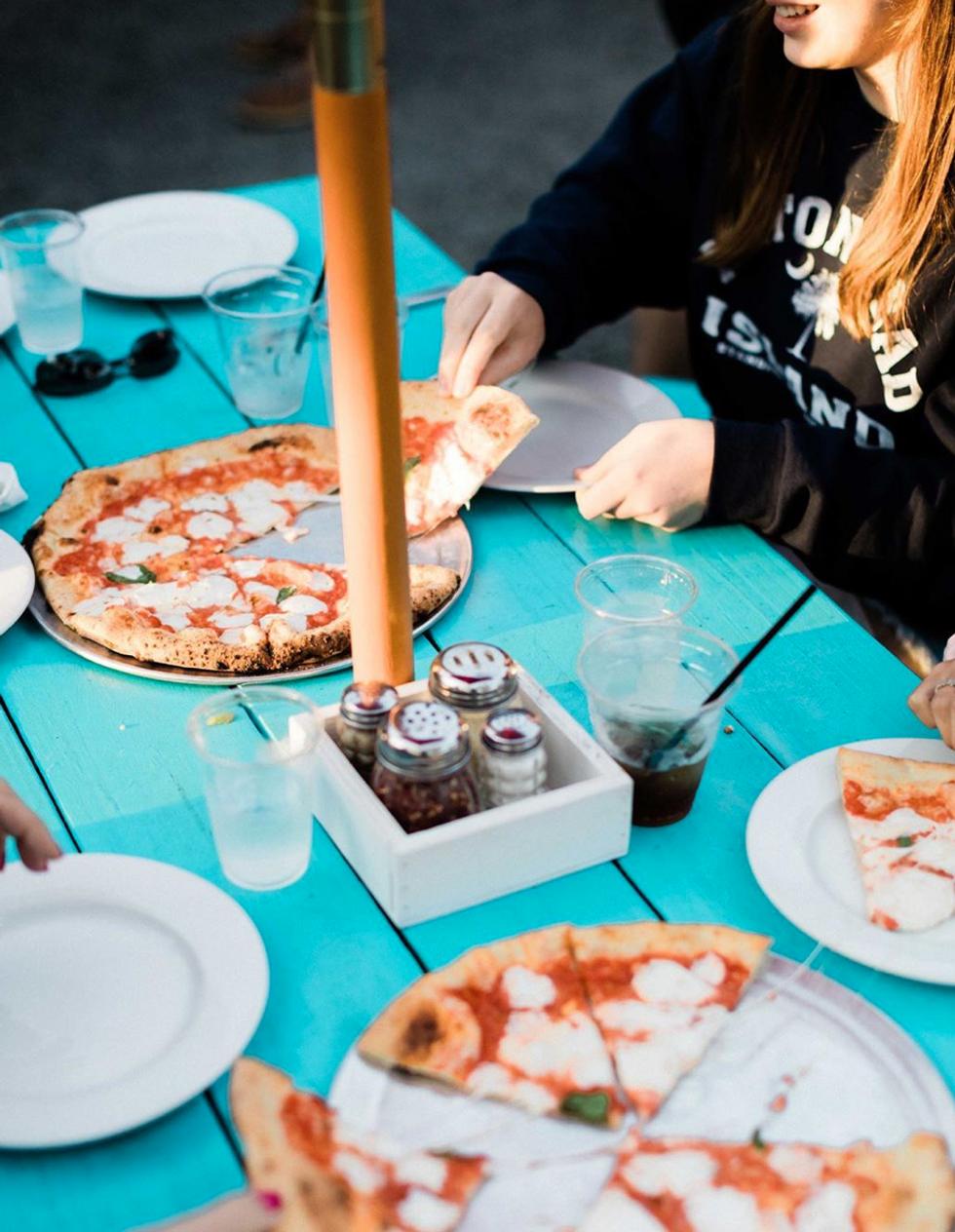 Outdoor dining at Porta Asbury Park