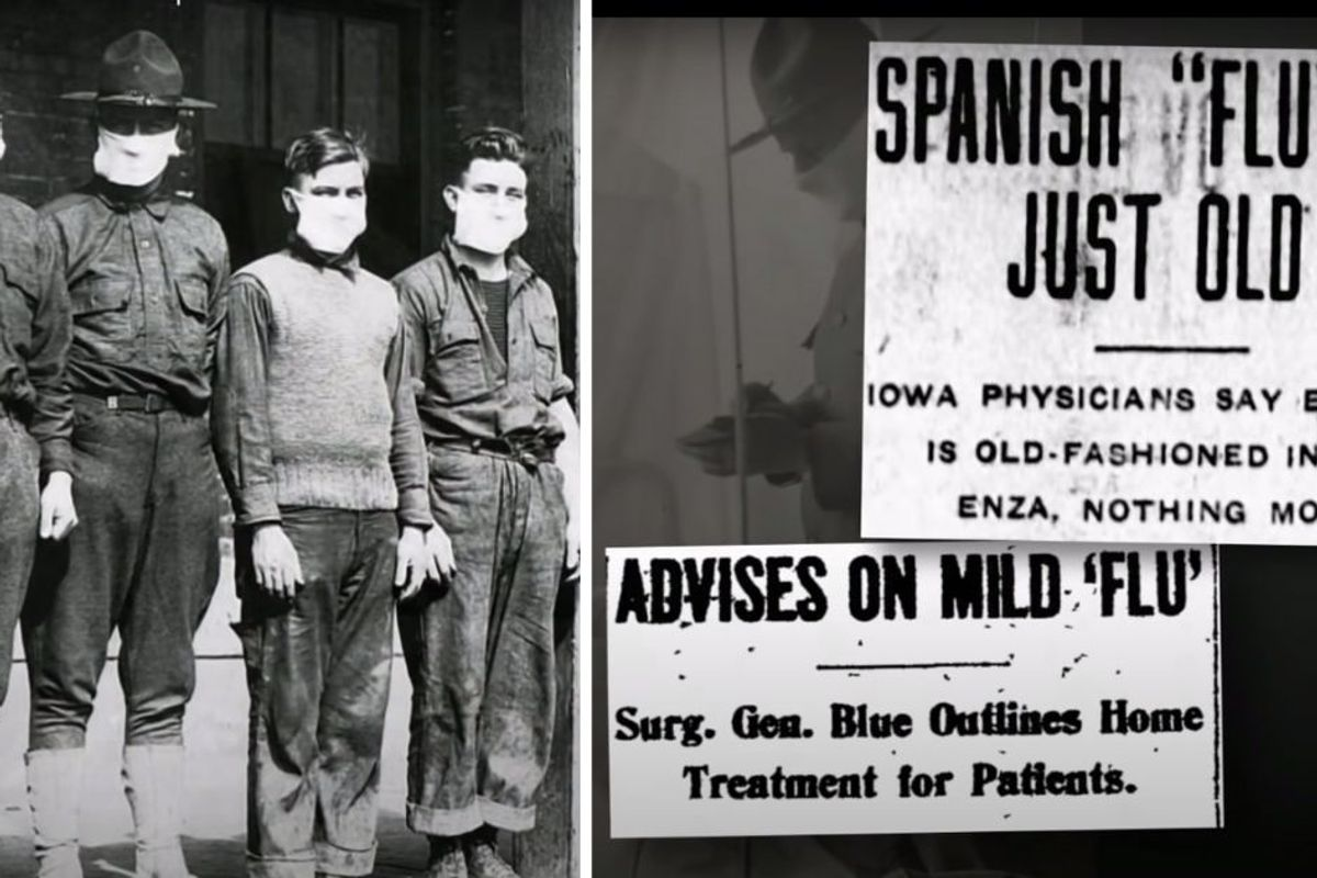 Pandemic photos from 1918 show what has changed in a century—and what hasn't