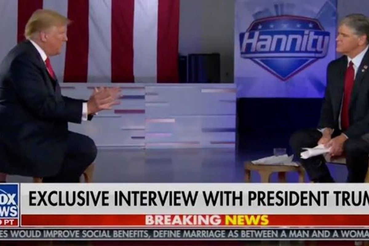 What are Trump's plans for a second term? He couldn't even explain them to Sean Hannity.