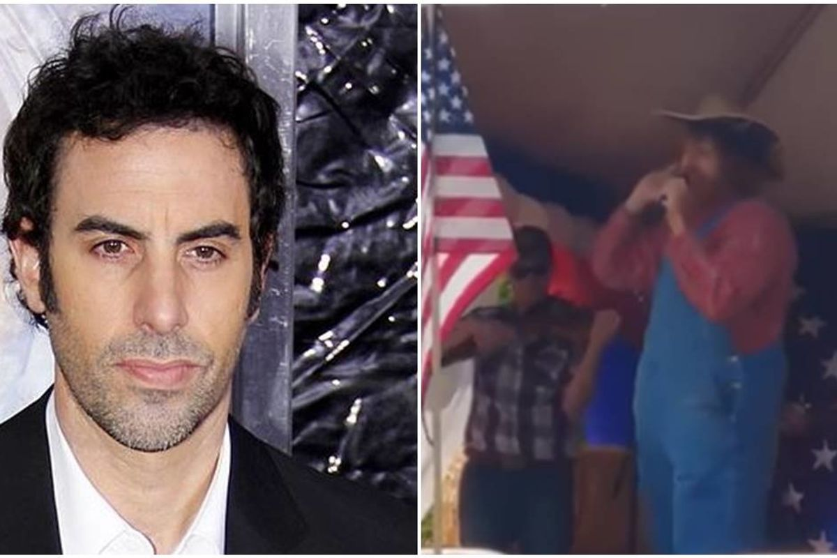 Sacha Baron Cohen tricked a right-wing militia group into a racist COVID-19 sing-along