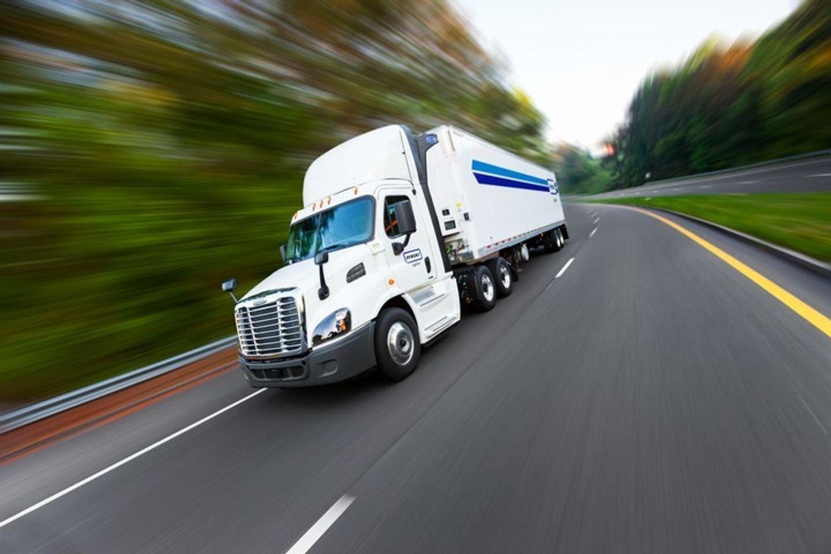 penske logistics truck on highway