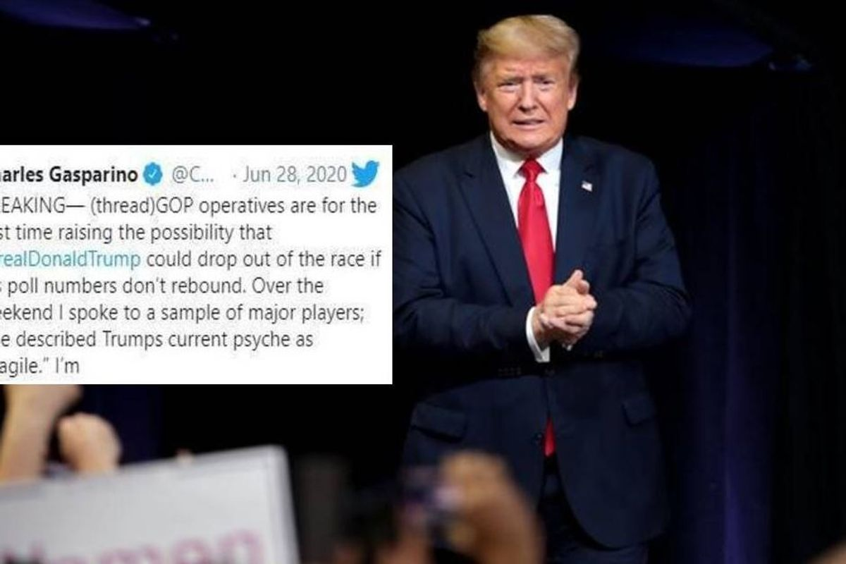 Republican operative tells Fox News that Trump may drop out of the 2020 presidential race