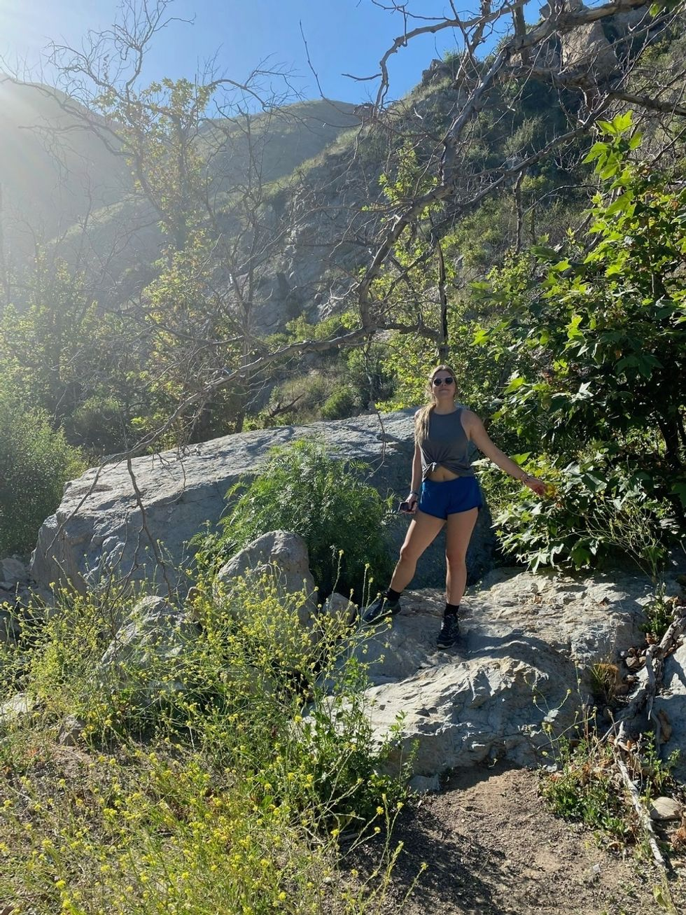 Caileigh on a hike in Malibu