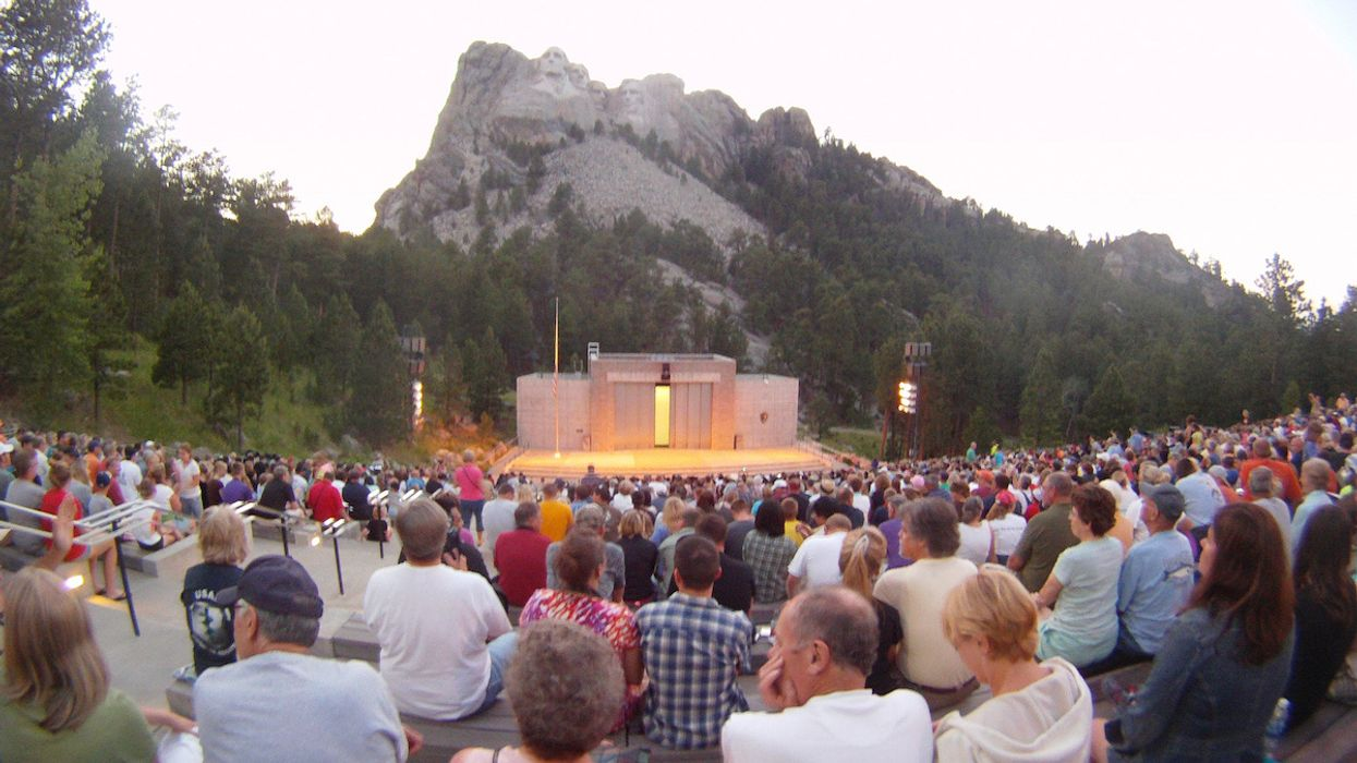 No Social Distancing or Mask Requirement at Trump's Mt. Rushmore Fireworks Event