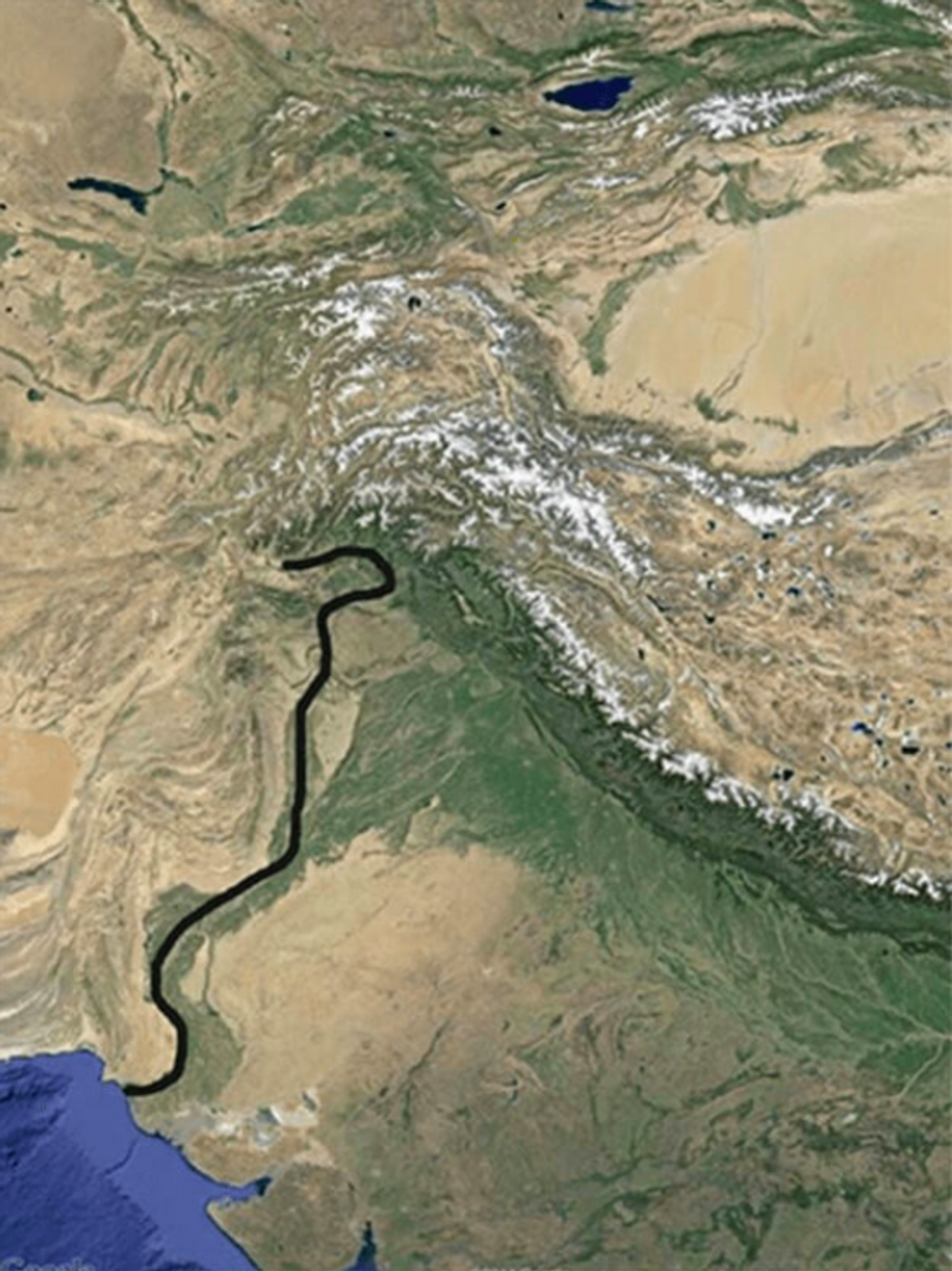 \u200bThe Indus river is a prominent geographical feature of Pakistan. Its course is similar to that of the Anduin, the Great River of Middle-earth.