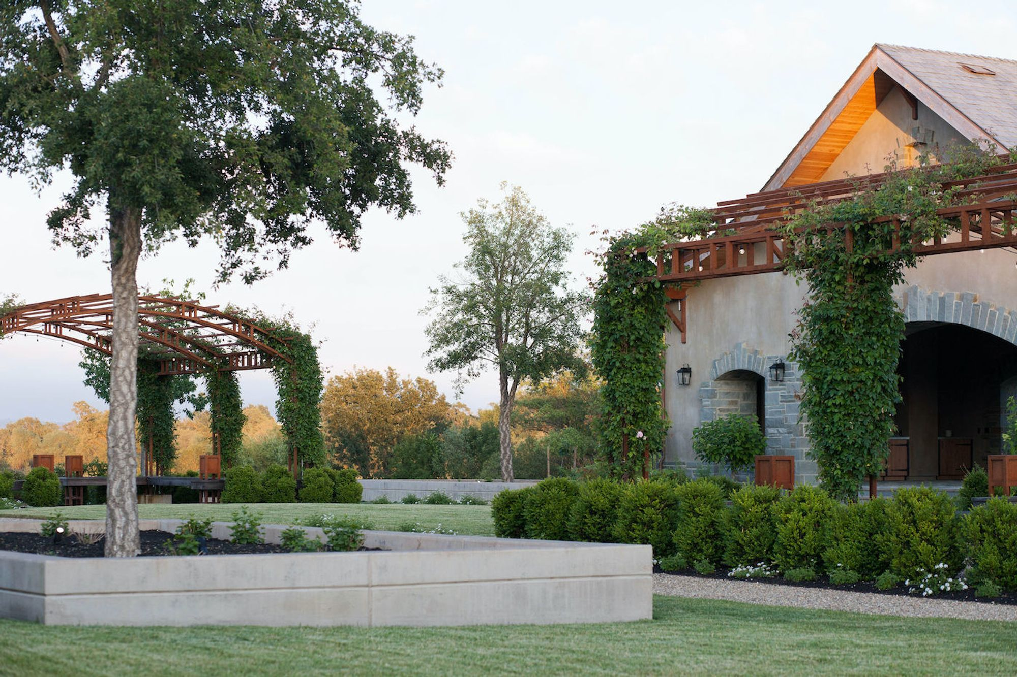 Sustainable wines, summery food pairings + alfresco yoga are on offer at Windsor's scenic new Bricoleur Vineyards