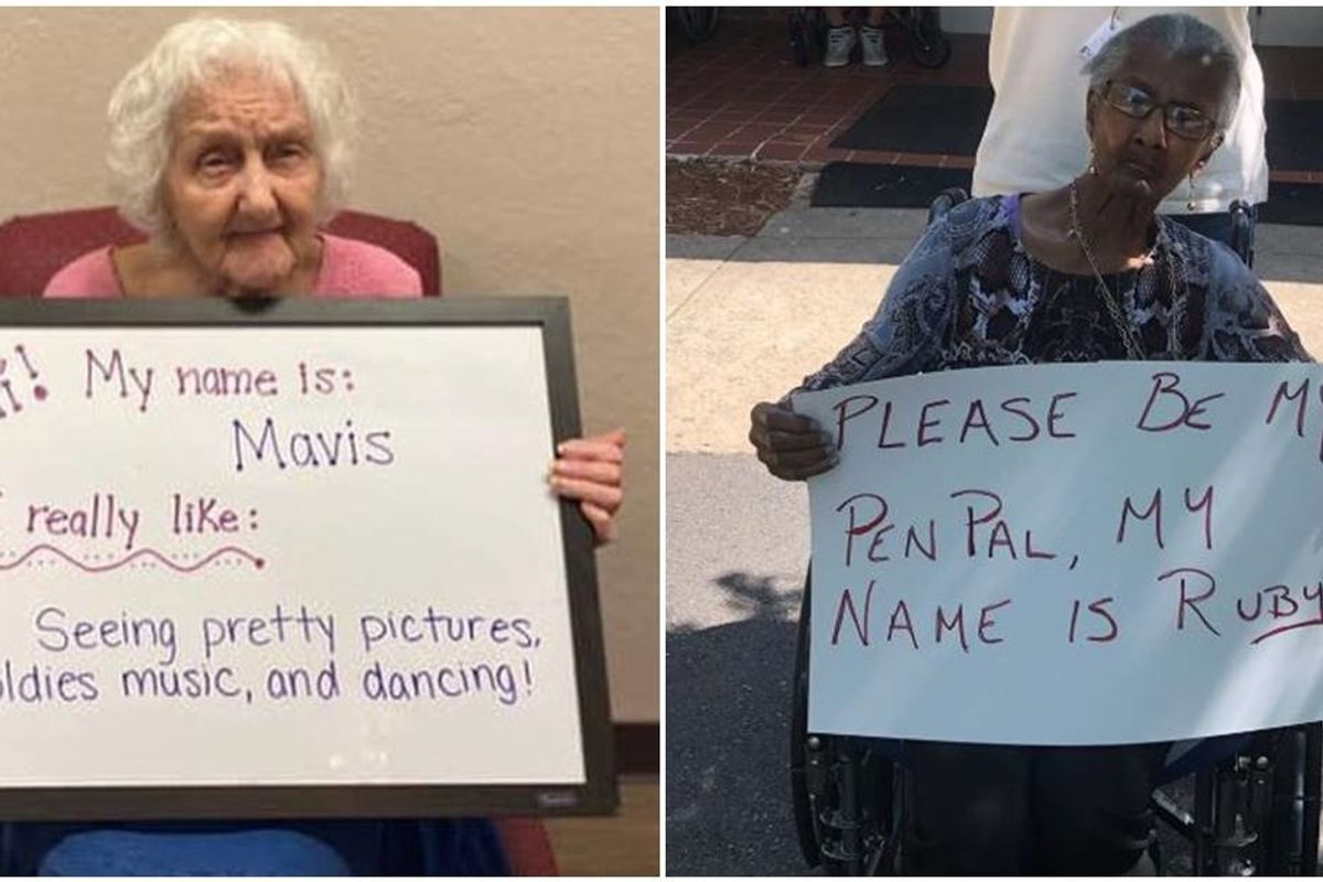 A senior center put out a call for pen pals and the response has been overwhelming