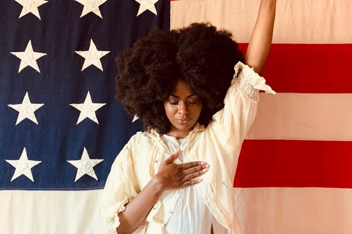 Powerful photo series explores Black Americans' complex relationship with the flag